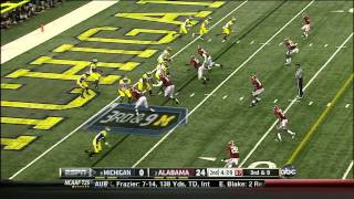Taylor Lewan vs Alabama (2012)