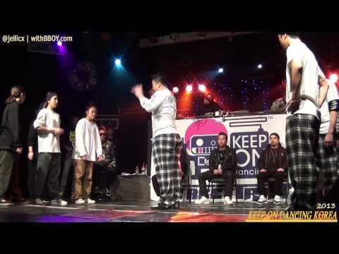 POPPIN TOP8-1 | THE B vs WINNERS CREW(win) vs REAL MARVELOUS | KOD KOREA 2013