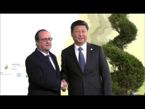 World leaders arrive for COP21 climate summit in Paris.