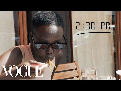 Model Adut Akech's Prada Show Getting Ready Routine | Diary of a Model | Vogue