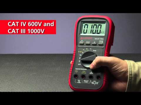 Commercial & Industrial multimeter for electrical & HVAC applications