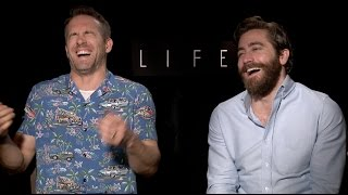 Ryan Reynolds and Jake Gyllenhaal interview for LIFE, DEADPOOL...