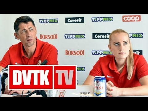 Sajtótájékoztató az MTK - Aluinvent DVTK mérkőzés előtt
