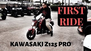 3. FIRST RIDE 2018 KAWASAKI Z125 PRO | NEW BIKE!!