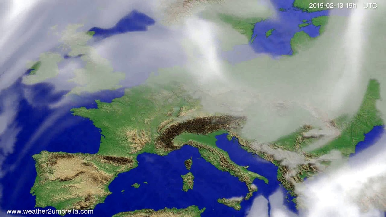 Cloud forecast Europe 2019-02-12