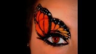 Monarch Butterfly Make Up - The Tutorial - YouTube