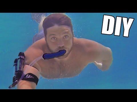 Incredible DIY Underwater Breathing Device • Tutorial
