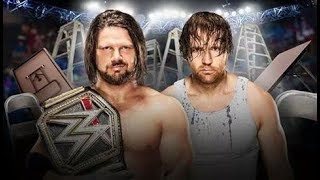 WWE | AJ STYLES VS DEAN AMBROSE | TLC 2016 | highlights - SKILLET - HERO