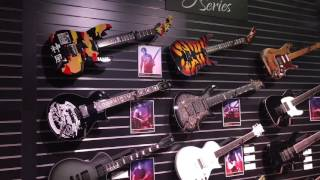 George Lynch performing live for ESP Guitars at NAMM 2017