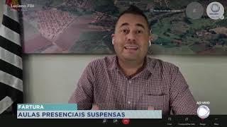 O Prefeito de Fartura decidiu suspender as aulas presenciais na Rede Pública