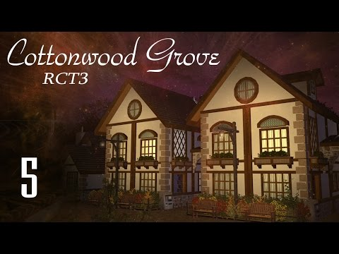 """(RCT3) Cottonwood Grove [Part 5] """"New Wooden Coaster! (and lost children)"""""""