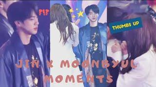 MAMAMOO (마마무) Moonbyul & BTS (방탄소년단) JIN Moments at Melon Music Awards (MMA) 2018 '92 LINE'