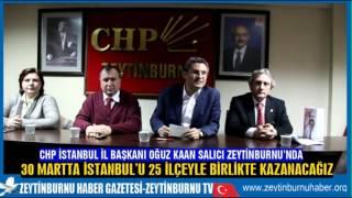CHPİstanbul İl Başkanı Oğuz Kaan Salıcı Zeytinburnu'nda