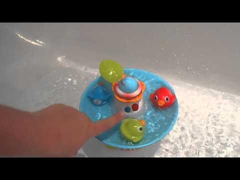 Test jouet de bain canards interactif Yookidoo