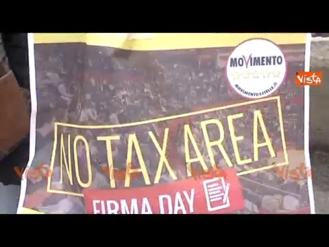 POTENZA, NO TAX DAY DEL MOVIMENTO 5 STELLE (видео)