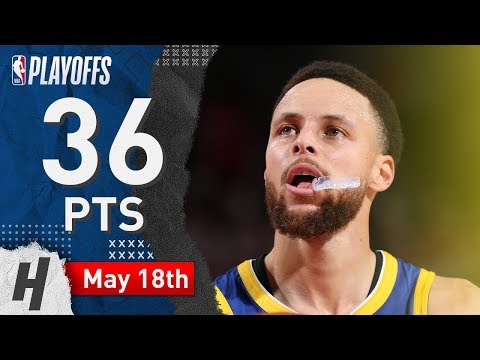 Stephen Curry EPIC Game 3 Highlights Warriors Vs Blazers 2019 NBA Playoffs - 36 Pts, CLUTCH MODE!