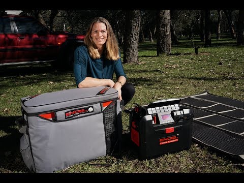Emma George shows different power options for her Engel fridge