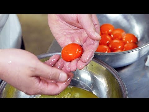 Japanese Food - SEAFOOD EGG SPONGE CAKE Shrimp Scallops Teruzushi Japan - Thời lượng: 20 phút.