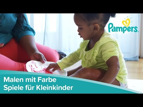 Spiele für Kleinkinder | Malen lernen mit Fingerfarben