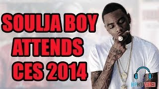 Soulja Boy takes HipHopWired beind the scenes at the Consumer Electrics Show in Vegas. WATCH MORE HIP HOP WIRED VIDEOS: http://bit.ly/KzGLHz SUBSCRIBE! http:...