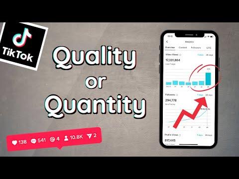 How To Grow on TikTok 2021 | Quantity or Quality?