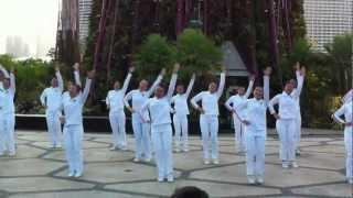 晨曦's dance @ Garden by the bay, Marina South @ Singapore National Day Parade 2012