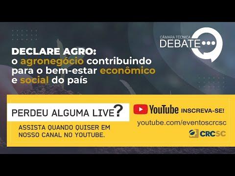 """Câmara Técnica Debate """"DECLARE AGRO: O agronegócio contribuindo para o bem-estar econômico e social do país"""""""