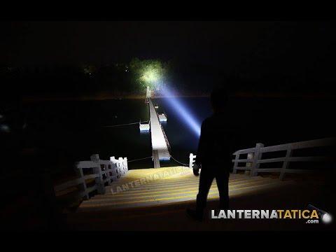 Super Lanterna Tática Absolut LED XML T6 L2 Bateria 26650 Potente de Longa Duração