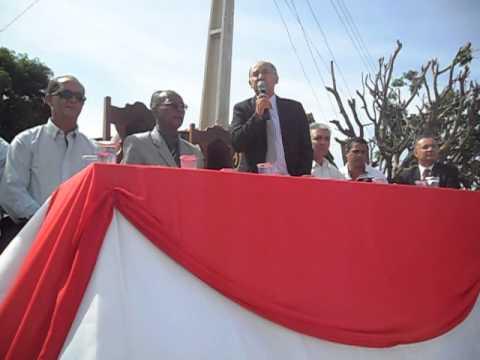 Discurso do prefeito tião no 21º Aniversario da cidade de pedras de maria da cruz