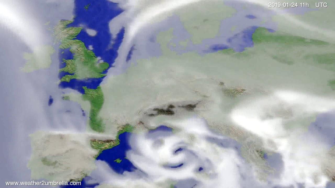 Cloud forecast Europe 2019-01-21