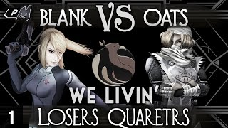 Oats (Sheik) VS blank (Zero Suit Samus) Losers Quarters at We Livin'  1. One of the most exciting and crazy Project M sets I've ever watched.