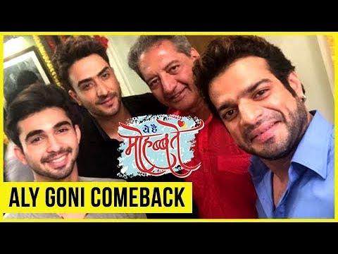 Karan Patel WELCOMES BACK Aly Goni On Ye Hai Mohab