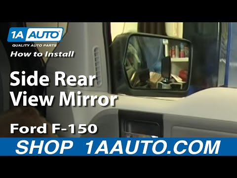 How To Install Replace Side Rear View Mirror Ford F-150 04-08 1AAuto.com (видео)