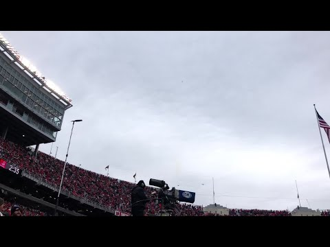Fighter jet flyover at Ohio State, Maryland game
