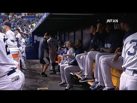 Video: Yankees' broadcaster terrified by loud gong