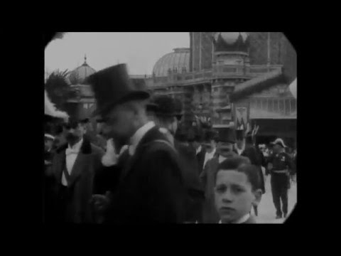 April 9, 1901 - France president Emile Loubet and entourage (speed corrected w music)
