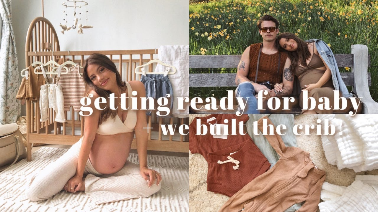 VLOG: building our crib, baby haul & afternoon at the gardens!