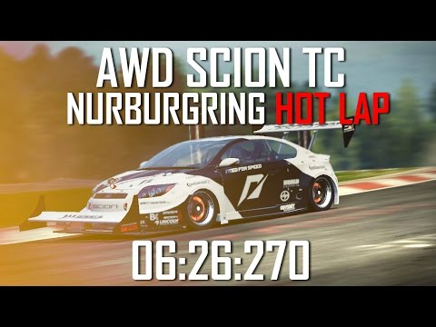 NFS Shift 2: AWD Scion TC Hotlap at the Nurburgring! 6:26:270