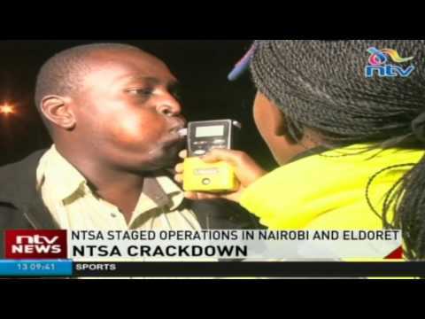 NTSA officials arrest drunk drivers and careless motorists (видео)
