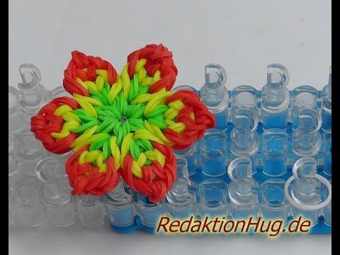 Loom Bands mit Rainbow Loom Anleitung Deutsch Blume I – Veronika Hug
