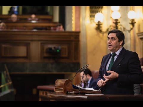 Intervención de José Ignacio Echániz en el Congreso de los Diputados.