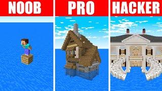 Minecraft NOOB vs. PRO vs. HACKER : FLOOD SURVIVAL CHALLENGE in Minecraft!