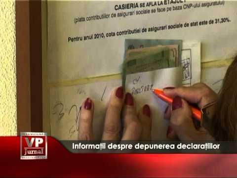 Informatii despre depunerea declaratiilor