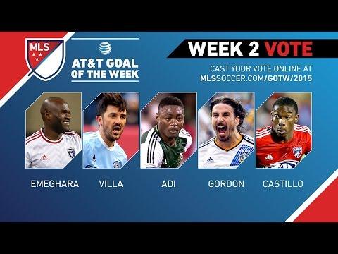Video: 2015 AT&T Goal of the Week Nominees: Week 2