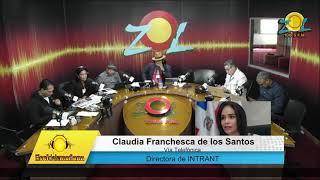 Claudia Franchesca de los Santos informa de servicios del INTRANT vía online