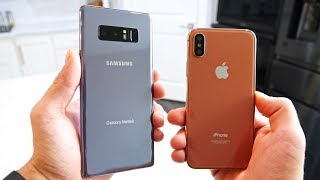 Video Samsung Galaxy Note 8 vs iPhone X! Battle Of The Bezels MP3, 3GP, MP4, WEBM, AVI, FLV Oktober 2017