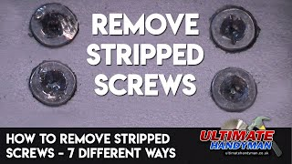 Video How to remove stripped screws – 7 different ways MP3, 3GP, MP4, WEBM, AVI, FLV Agustus 2019