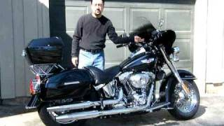 9. Harley Davidson Softail Deluxe -- Converted for Touring in 3 minutes