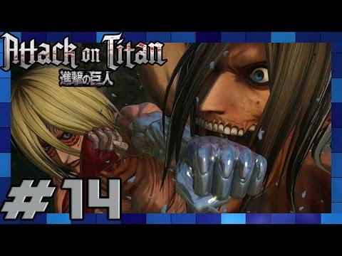 Attack on Titan PS4 - English Walkthrough Part 14 Chapter 3 Episode 5 & 6 Female Titan Boss Battle
