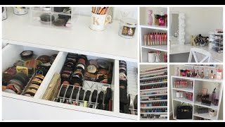 Makeup Collection + Storage | Room Tour- Kathleenlights
